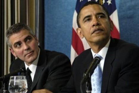 George Clooney visita a Barack Obama