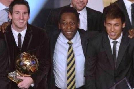 Pelé comentó sobre supuesta rivalidad entre Messi y Neymar