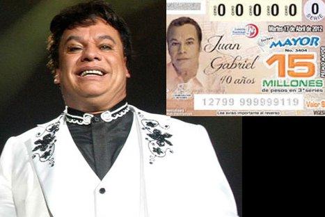 Imagen de Juan Gabriel estuvo en billetes de Lotería