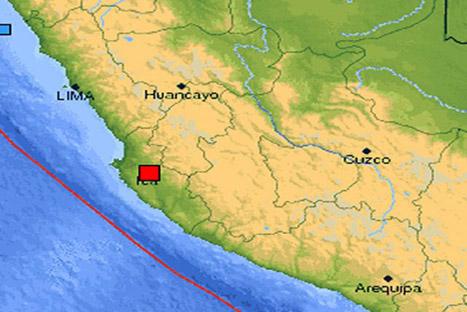 Sismo de 5.5 grados remeció Ica y Lima