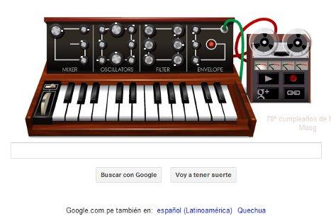 Google homenajea al creador del sintetizador con doodle musical