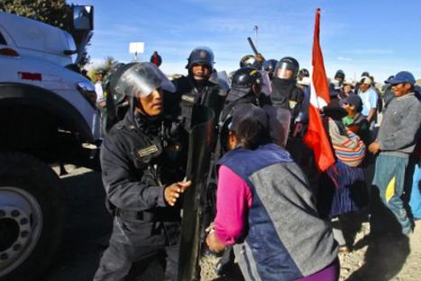 Protestas en Espinar dejan dos civiles muertos