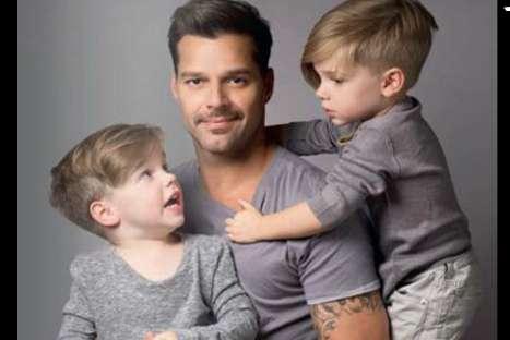 Ricky Martin compartió fotografía con sus dos hijos por el 'Día del Padre'