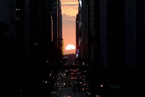 FOTOS: Manhattanhenge, la puesta de sol más esperada de la 'Gran Manzana'