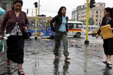 El domingo fue el día más frío y húmedo del invierno en Lima