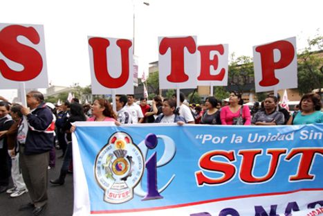 Sutep inició huelga nacional indefinida
