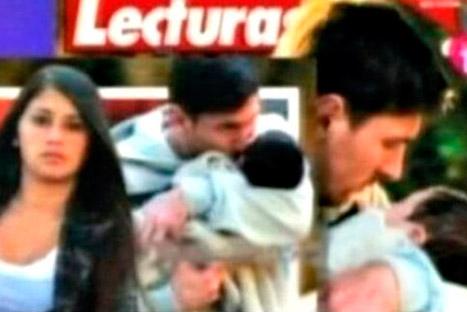 Messi en su primera foto como papá amoroso