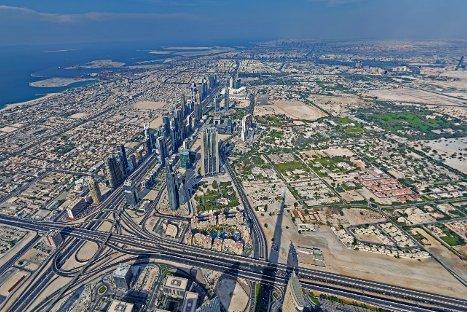 Esta es la primera foto panorámica y en alta resolución desde el edificio más alto del mundo