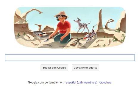 Google rinde homenaje a arqueólogo Mary Leakey con nuevo doodle