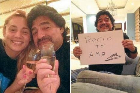 Futbolista de River Plate confirmó noviazgo con Diego Maradona