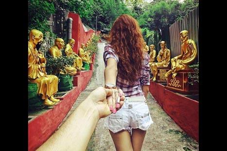 Fotógrafo sigue a su novia por todo el mundo y se vuelve una sensación en Instagram – FOTOS