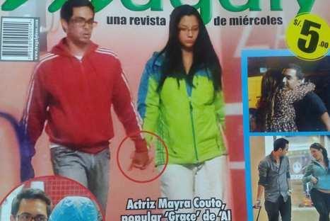 Actriz Mayra Couto bastante molesta por fotos 'románticas' junto a su novio