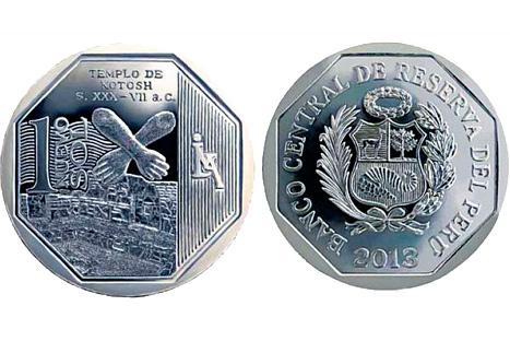 Presentan nueva moneda de un sol alusiva al templo de Kotosh