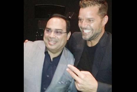 Gilberto Santa Rosa recibió visita de Ricky Martin en Broadway