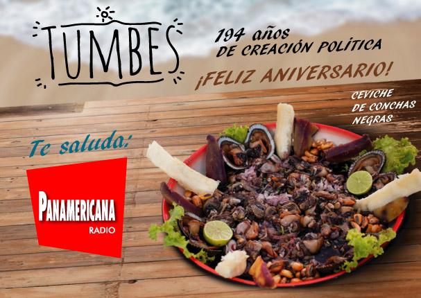 ¡Feliz aniversario Tumbes! Te saluda Radio Panamericana