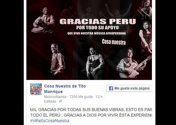 Cosa Nuestra ganó la Gaviota de Plata para Perú