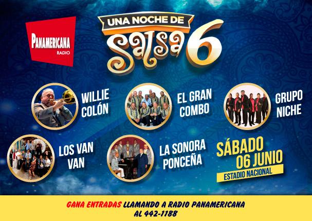 Radio Panamericana presenta 'Una Noche de Salsa 6', este sábado 6 de junio