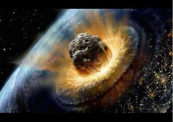 Se hacerca un gran asteroide en dirección hacia la tierra.
