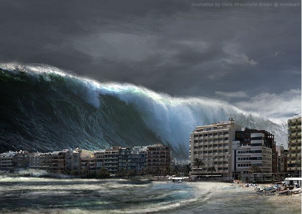 Mega tsunami podría acabar con la Tierra, advierten científicos