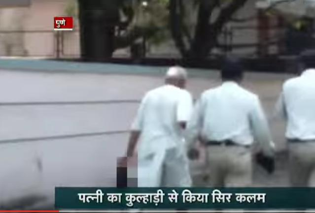 ¡Escalofriante!  Hombre decapita a su mujer y camina con su cabeza por las calles – VIDEO