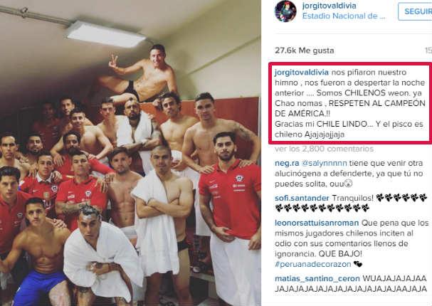 Perú vs. Chile: el provocador mensaje que dejó la 'Roja' en el vestuario (FOTO)