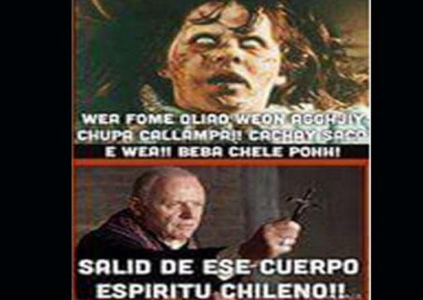 Usuarios crean 'memes' con la frase 'por aquí pasó Chile' (FOTOS