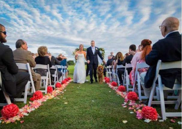 Te conmoverá saber quién acompaña a esta pareja al altar (VIDEO)