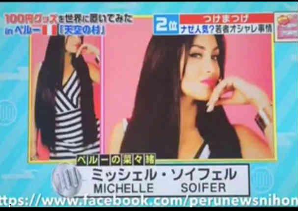 Esta es la razón por la que Michelle Soifer apareció en televisión de Japón