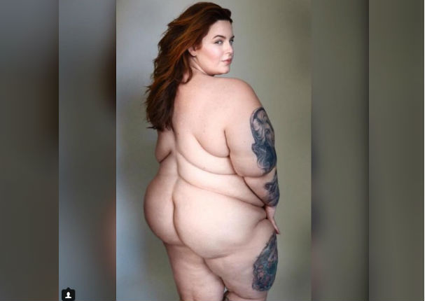 La modelo de talla grande Tess Holliday posa desnuda