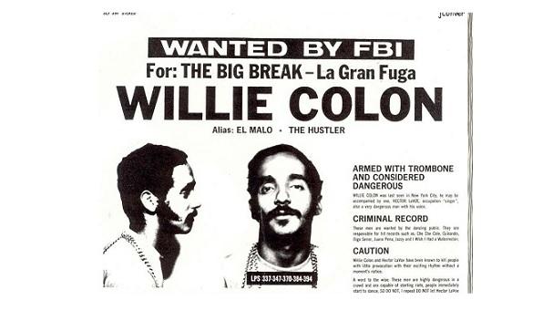 ¿Willie Colón buscado por el FBI?