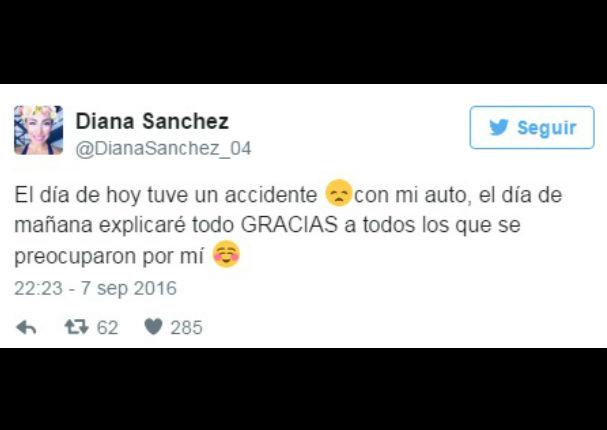 Esto es Guerra: Diana Sánchez sufre accidente con su auto