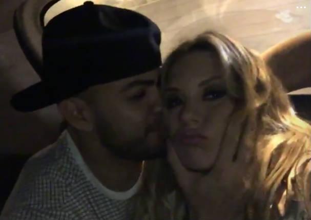 ¿Leslie Shaw y Coto Hernández confirmaron su romance con apasionado beso?