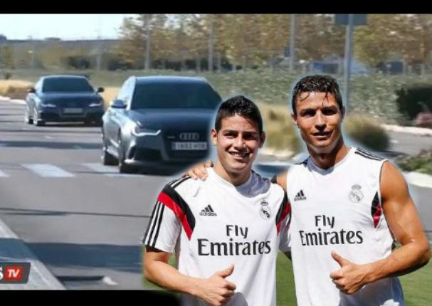 YouTube: Cristiano Ronaldo y James  se desafiaron a lo 'Rápidos y Furiosos'