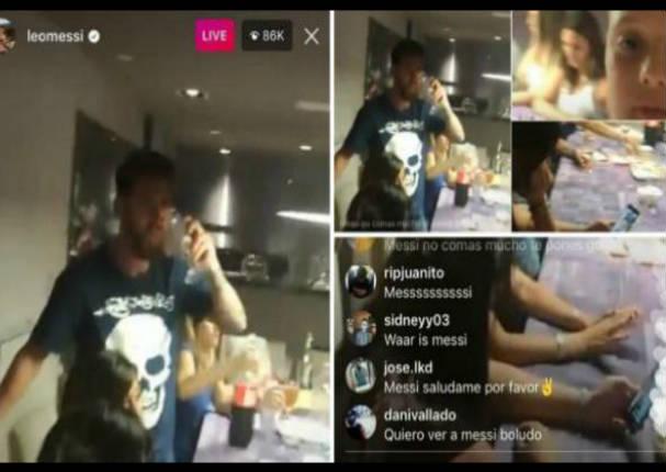 ¡Qué fue! Sobrino de Messi cogió su celular y transmitió en vivo