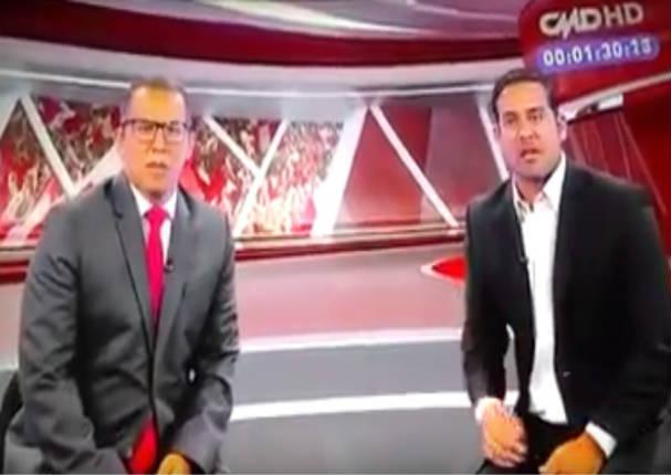 Le arrojan balde de pintura a periodista Pedro García - VIDEO