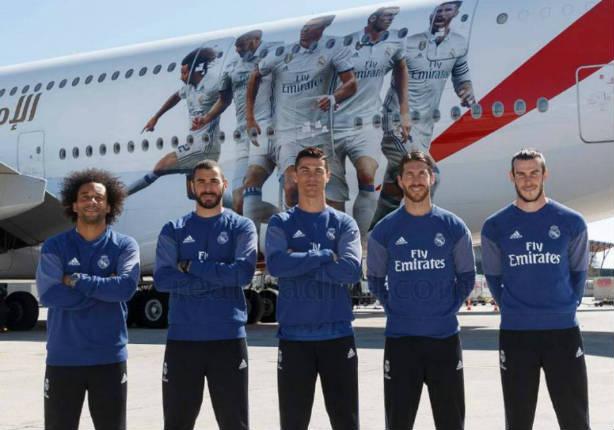 Estrellas del Real Madrid se lucen con su lujoso avión