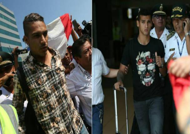 Miguel Trauco y Paolo Guerrero ya están en Lima - VIDEO