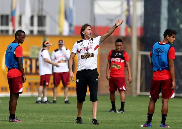 Esto hizo Gareca en el último entrenamiento con la selección peruana