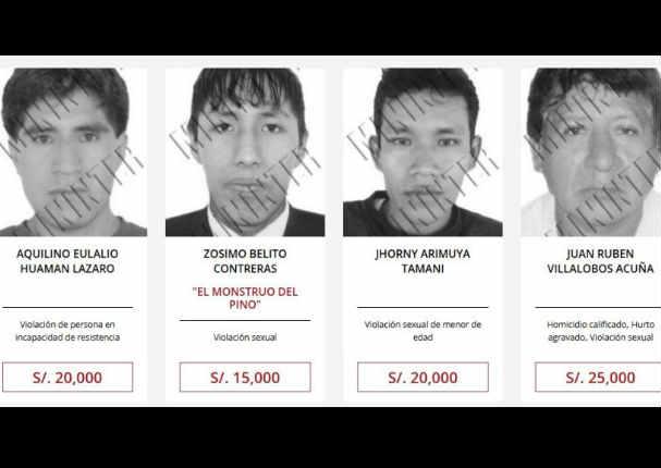 Dan recompensa por el paradero de estos hombres acusados de violación