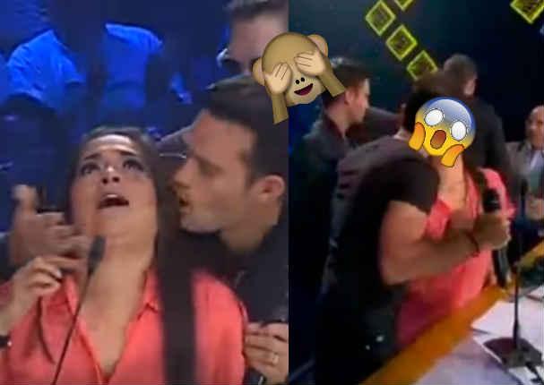 ¡Se volvió loca! ¿Karia Palma besó en la boca a integrante de Magneto y Mercurio?