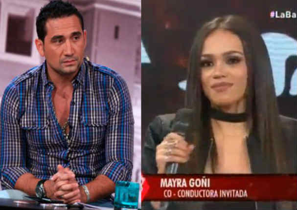 ¡Qué roche! Mayra Goñi chotea feo a Víctor Hugo