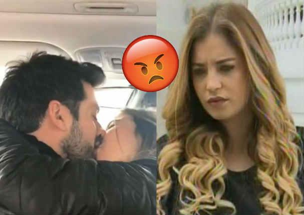 Flavia Laos se molesta y reacciona mal al ver besos entre Pablo Heredia y Alessandra Fuller