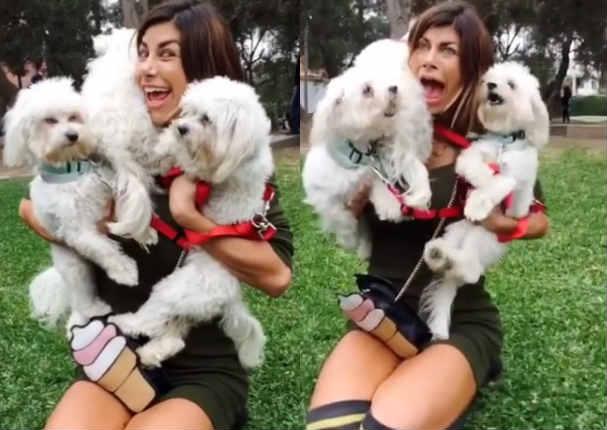 Xoana González: Perros de modelo argentina le hacen pasar la vergüenza de su vida