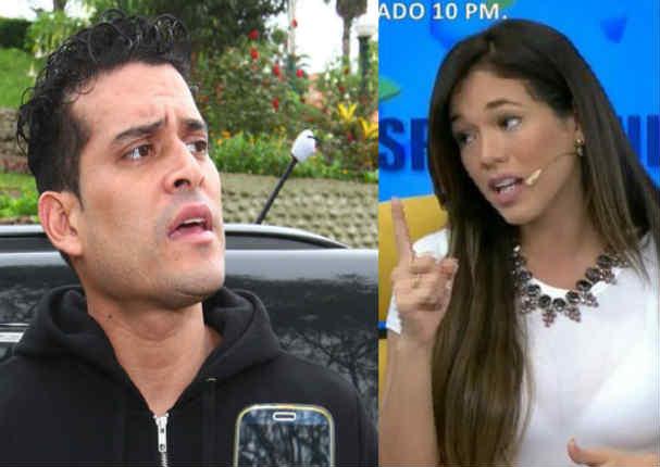 Jazmín Pinedo destruyó a Christian Domínguez al cantarle todas sus verdades