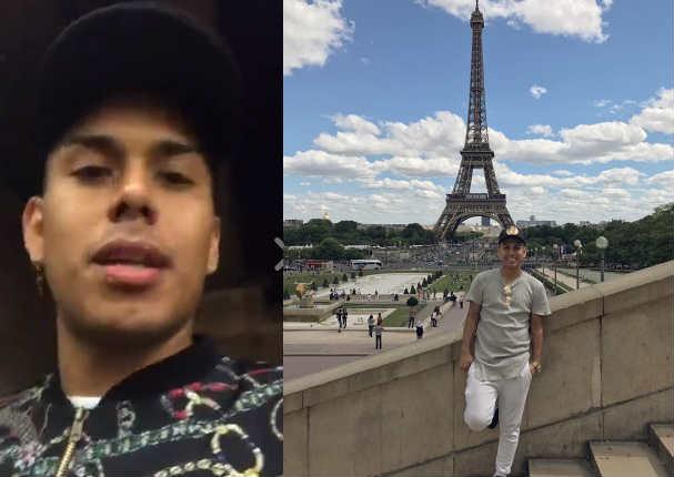 César Vega conoció el interior de la Torre Eiffel y así lo celebró - VIDEO