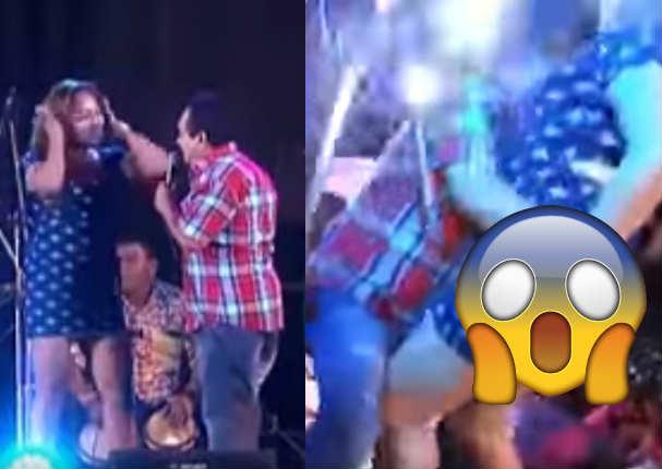 Tony Rosado habla tras levantar vestido a mujer en escenario - VIDEO