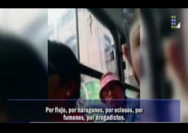 Venezolano fue insultado por peruano en bus y su reacción sorprendió a todos - VIDEO