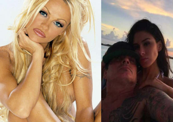 Ex de Pamela Anderson es grabado mientras tiene intimidad en un avión