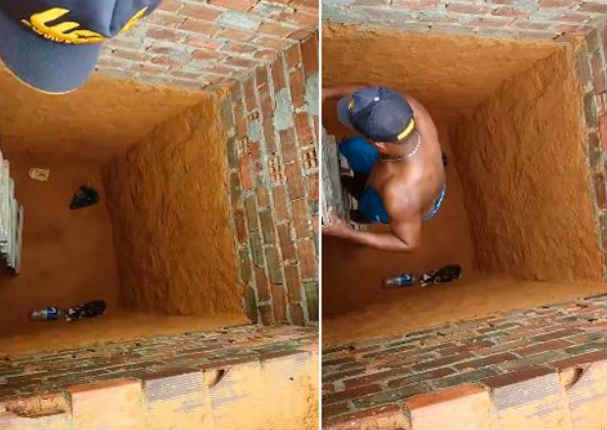 Quiso rescatar a un gato, pero no se imaginó que esto pasaría (VIDEO)