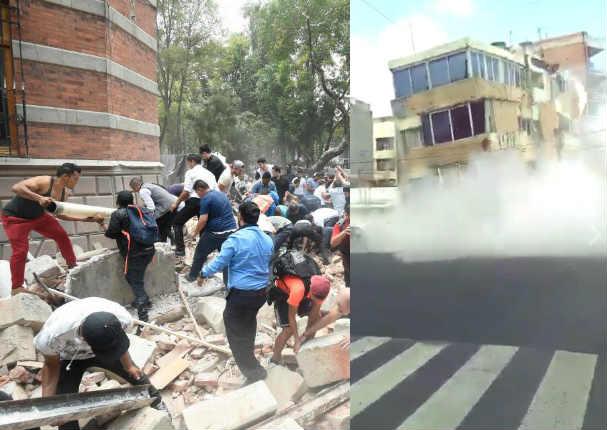 Terremoto de 7,1° sacude México y estos son los primeros videos